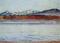 Le lac Léman et le Mont Blanc à l'aube (janvier), 1918
