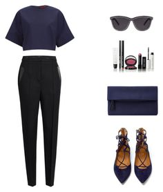 """""""Glamour."""" by roci28 ❤ liked on Polyvore featuring Alexander Wang, HUGO, Aquazzura, John Lewis and Bobbi Brown Cosmetics"""