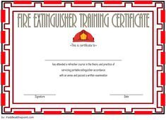 Fire Extinguisher Training Certificate Template Word FREE 3. Ready in Docx and PDF format.