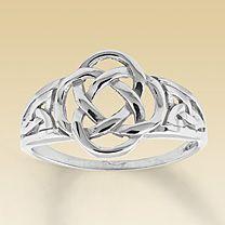 14K White Gold Celtic Knot Ring $223.99