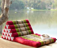 outdoor floor pillow seating - Google Search where to find fantastic triangle pillows?