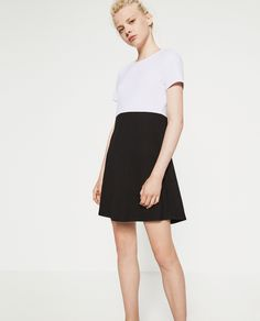 cb20d57673c9 DRESS WITH FLOUNCE SKIRT from Zara - Elongate with full pleated pocket  skirt