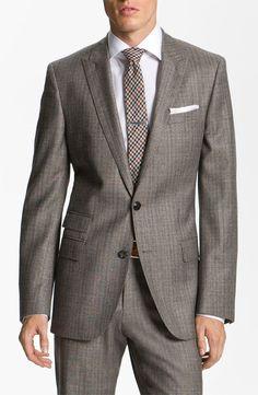 BOSS Black 'Hold Genius' Trim Fit Plaid Suit   Nordstrom