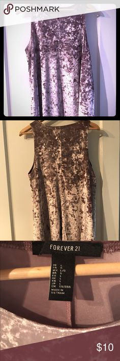 """{f21}  velvet babydoll dress EUC! Worn once! Beautiful velvet babydoll styled dress that is a really beautiful grayish mauve color. Pics don't do it justice! Dress length is 32"""" from shoulder. Super fun layering piece for your wardrobe! Forever 21 Dresses"""