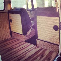 Custom bamboo interior for my 1972 Vw Bus