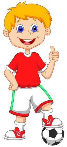 Kid Football Player Cartoon Image D