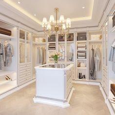 Walk In Closet Design, Bedroom Closet Design, Master Bedroom Closet, Dressing Room Closet, Dressing Room Design, Dressing Rooms, Dream Home Design, Home Interior Design, Wardrobe Room