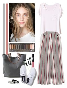 """""""stripes"""" by crisp ❤ liked on Polyvore featuring Christian Dior, Victoria Beckham, Independent Reign, NARS Cosmetics, Keds and Urban Decay"""
