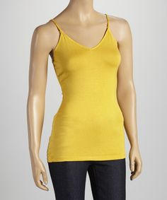Take a look at this Mustard V-Neck Camisole on zulily today!