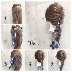 Celebrity Secrets for How to Get Celebrity Hair at Home Hair Scarf Styles, Curly Hair Styles, Ponytail Hairstyles, Pretty Hairstyles, Hair Arrange, Hair Trends, Her Hair, Hair Inspiration, Marie