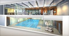 Did you know the Moise Safra Community Center will have a beautiful wellness center with a pool and fitness classes?!
