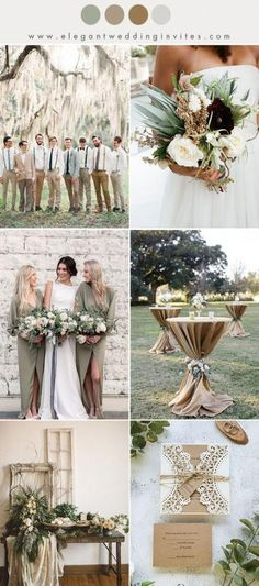rustic olive green and warm beige fall and winter wedding color ideas 2019 - summer decor summer dessert summer table decorations summer wedding decor summer wedding decor ideas - summer decor -Summer Vintage Dresses 2019 Perfect Wedding, Dream Wedding, Wedding Day, Trendy Wedding, Diy Wedding, Budget Wedding, 2017 Wedding, Wedding Trends, Wedding Reception