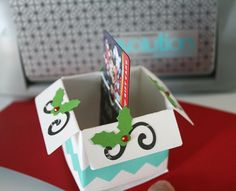 Holiday Gift Card Holder featuring Pop Up Dies by Wendy Antenucci for We R Memory Keepers.