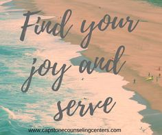 Hey Everyone, find your joy in service! It doesn't have to be a big thing, it can be saying hi to someone or holding a door open for someone. We challenge you to find some way to serve TODAY!