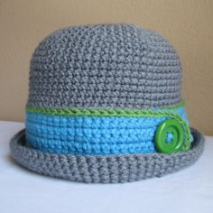 PATTERN - Downtown Boy - a beanie/cloche hat with button