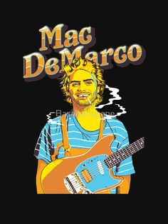 """mac demarco"" Lightweight Sweatshirt by Basakawahane , Chiffon Tops, V Neck T Shirt, Classic T Shirts, Mac, Samsung Galaxy, Room Art, Sweatshirts, Daddy, Posters"