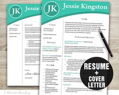 Resume Template  CV Template  Instant Download by BusinessBranding
