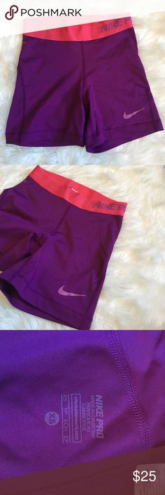 Nike Pro Purple and Pink Spandex Great condition, very comfortable, no flaws, 20% off bundles, open to offers Nike Shorts