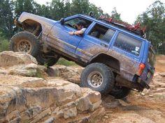 Barney's Jeep Cherokee XJ at the PB Hole