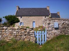 Maison traditionnelle d'Ouessant - Finistère. Bretagne