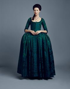 Outlander Claire Fraser Costume Season 2 Dragonfly in Amber 18th Century Dress, 18th Century Costume, 18th Century Clothing, 18th Century Fashion, Claire Fraser, Outlander Characters, Outlander Season 2, Outlander Series, Outlander 2016