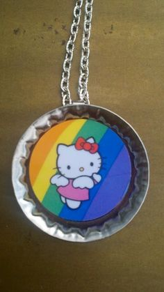 Hello Kitty! Bottle Cap Necklace!!!