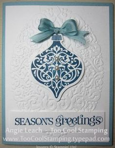 Ornament Keepsakes with Holiday Frame Embossing Folder