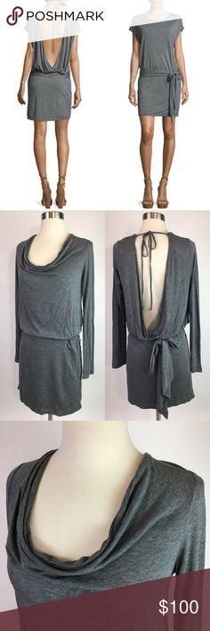NEW Haute Hippie Grey Open Back Dress Brand new never worn! Haute Hippie Dresses Mini