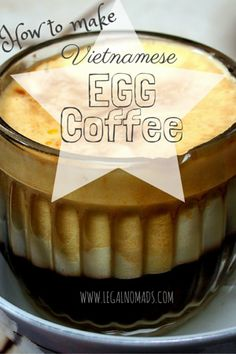 Vietnamese Egg Coffee Recipe -  any instant coffee, or even a coffee machine shot is even better, egg yolk whisked with a teaspoon of raw sugar until creamy. Then pour hot milk.  Simple and Delicious