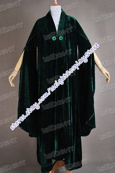Harry Potter Minerva McGonagall Cosplay Costume Cloak Trench Coat Cape Robe #Cape