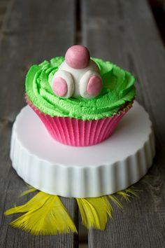 Påskcupcake / Påsk-cupcake / Easter cupcake / Eater bunny - made by Helle