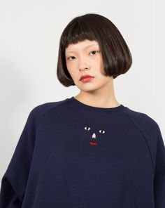 Lazy Oaf Face Emb Sweater Dress - Jumpers - Categories - Womens