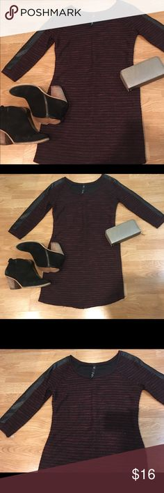 Knit dress Burgundy knit dress with faux leather detail. No flaws! Jessica Simpson Dresses Mini