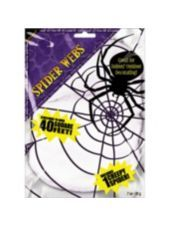 White Stretch Spiderweb. Buy one get one free. $1