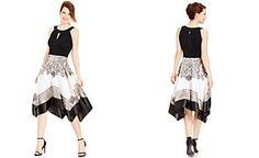 Sangria Handkerchief-Hem Halter Dress