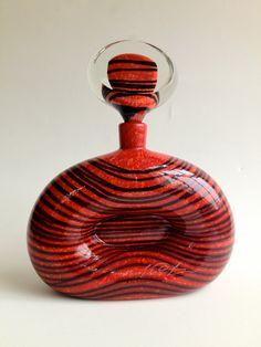 Vintage Large Perfume Bottle Flacon by Ioan Nemtoi by CrolAndCo via etsy