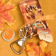 """Autumn Magic Collection"" Leaf Design Bottle Openers   #Wedding #Gift #wine #stopper bridalshowerfavors.com"
