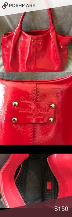 Red Kate Spade Handbag Like new classy red patent leather Kate Spade purse. Great condition, matching wallet available as well. kate spade Bags Shoulder Bags