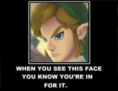 That's what you get for locking yourself in a dungeon boss room with Link.