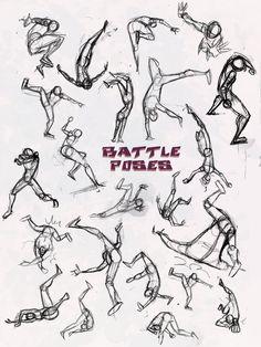 Battle Pose- Dodge and Pwned by *NebulaInferno on deviantART