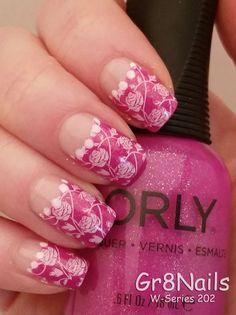 nail art with nail stamping