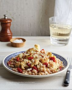 Farro Salad with Lemony White Beans, Roasted Red Peppers, and ...