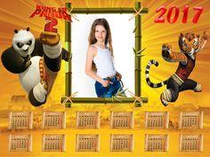 Calendarios para Photoshop: Calendario del 2017 de Kung Fu Panda para Photosho...