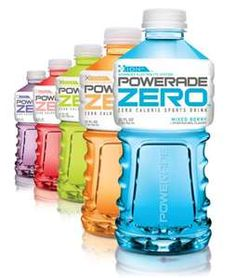 Powerade ZERO..Thank you Mr. M for this addiction. My VERY FAVORITE is grape ...for the love there is nothing better! Except coffee..of course. (R)