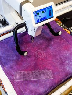 Longarm quilting service. Handi Quilter Amara with 12 frame Handi Quilter, Longarm Quilting, Sweet Sixteen, Ruler, Home Accessories, Textiles, Quilts, Sewing, Frame