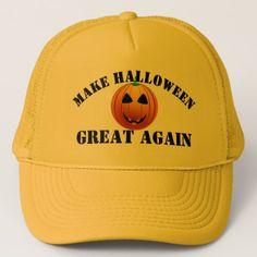 Funny American pumpkin Halloween Trucker Hat - accessories accessory gift idea stylish unique custom