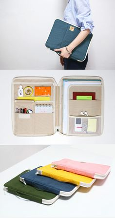 "Get organized for the first day of school with this super handy and unique organizer! Store everything you need: notebooks, pens, planners, headphones, and even your 13"" Macbook Air or iPad all in one pouch. Find more great products and master back-to-school at mochithings.com!"