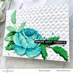 Altenew, Antique Roses, Card Sketches, Flower Cards, I Card, Cardmaking, Birthday Cards, Floral Card, Paper Crafts
