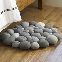 Felted Rock Rug -- Someone please make this for me!