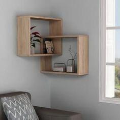 Ada Home Decor Warner Oak Mid-Century Modern Wall Shelf-DCRW2184 - The Home Depot